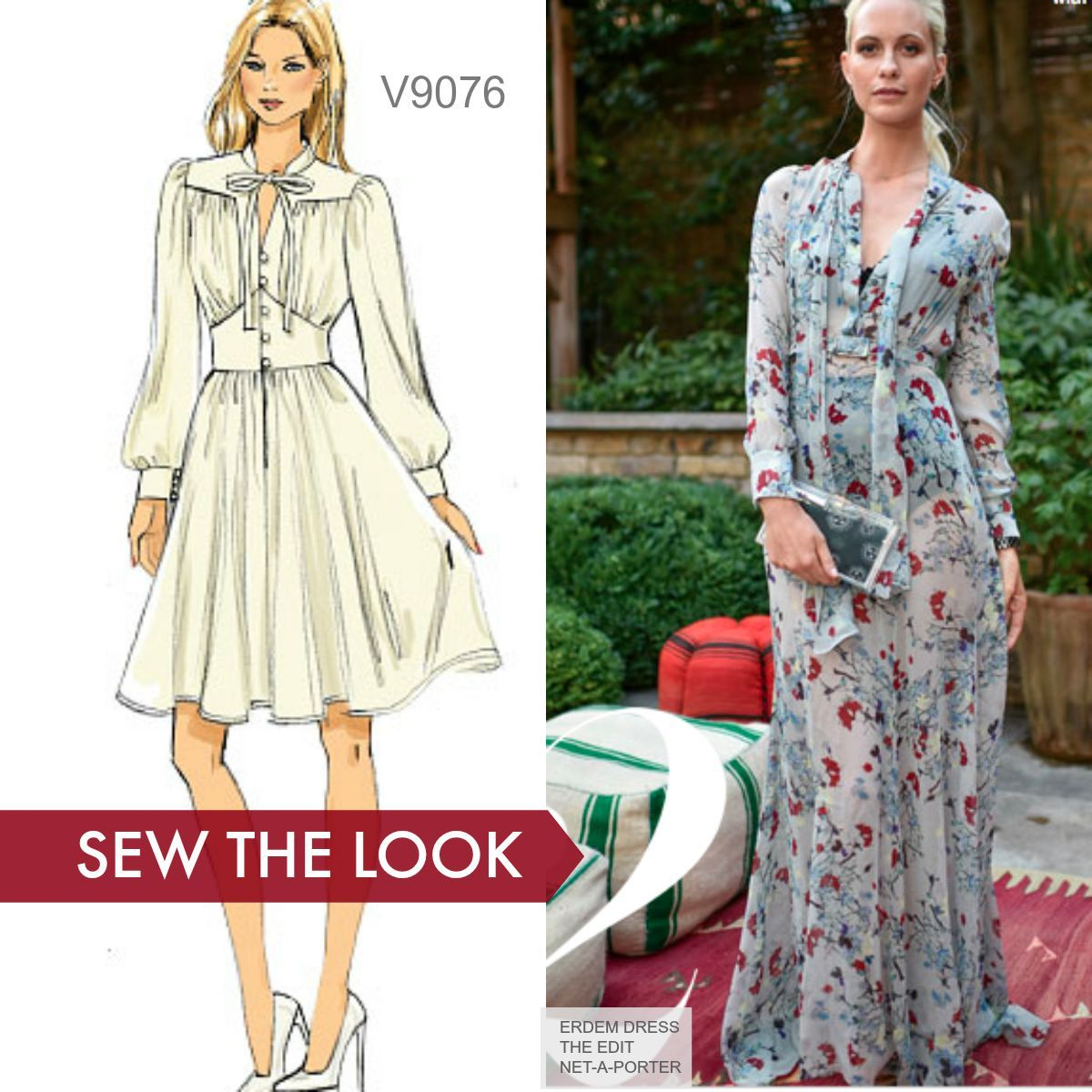 Sew the Look, boho style. Add length and wider ties at the neck to ...