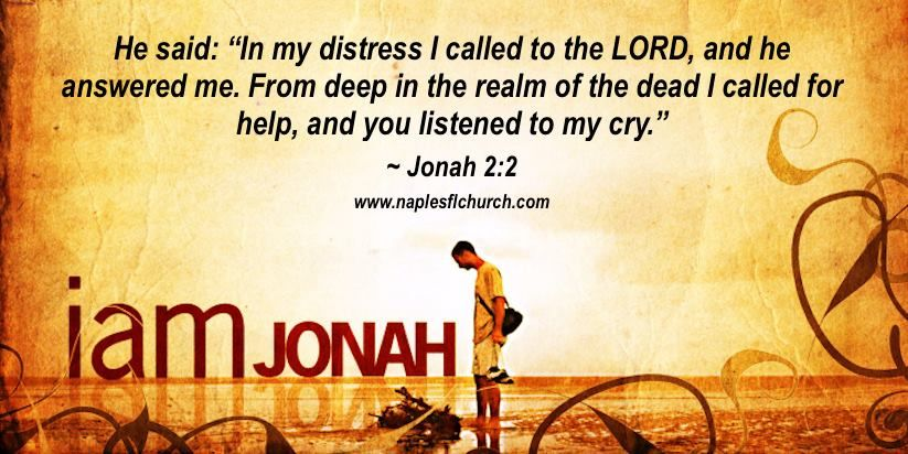 "He said: ""In my distress I called to the LORD, and he answered me. From deep in the realm of the dead I called for help, and you listened to my cry."" #Jonah 2:2"