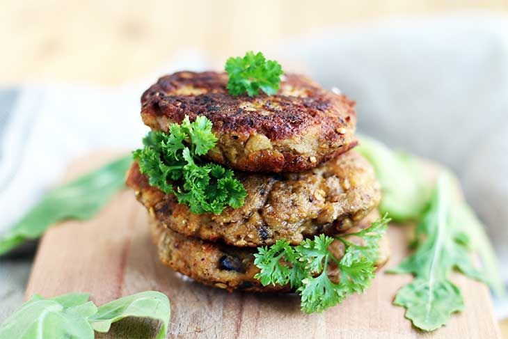Crunchy Eggplant Fritters With Mushrooms And Herbs Recipe Recipes Vegan Recipes Fritters