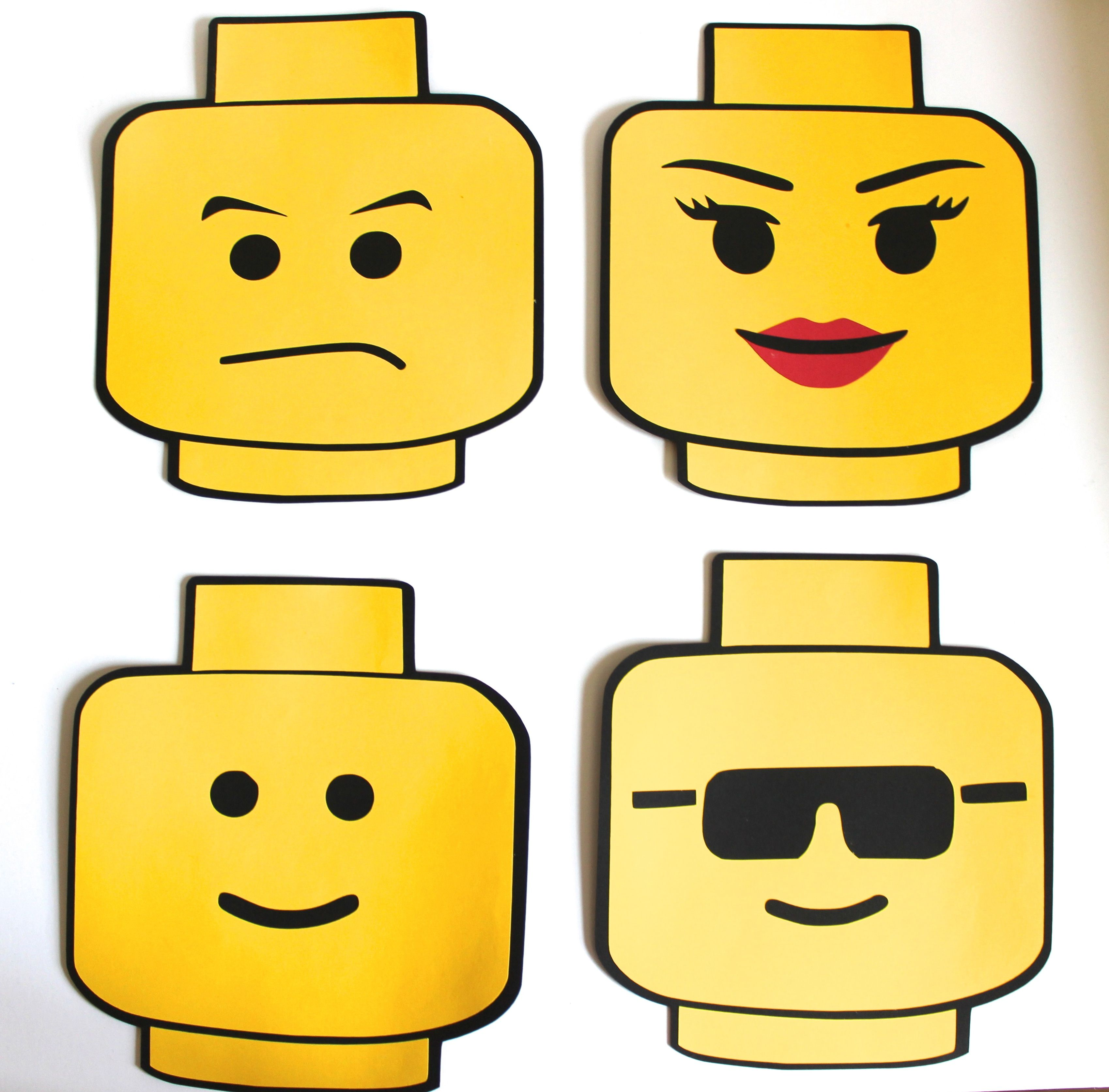 Large Lego Head Cake Topper Centerpiece Aaa Props In