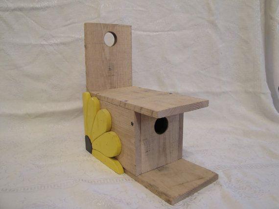 sunflower birdhouse by Kurt's Woodworks. in my Etsy shop https://www.etsy.com/listing/219325018/flower-birdhouse