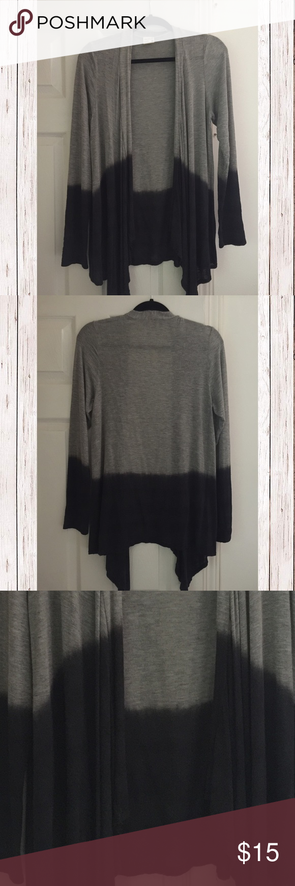 Ombré Cardigan So cute! Worn only once. Thin light and cozy ...