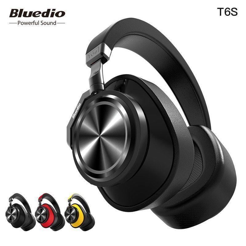 Bluedio T6s Bluetooth Headphones Active Noise Cancelling Wireless Headset For Ph Bluedio Headphone Bluetooth Headset Headphones With Microphone Headphones