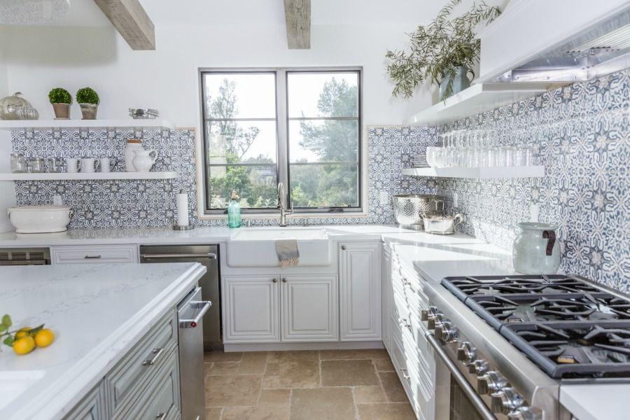 Kitchen Backsplash Tile How High To Go Diy Kitchen Shelves