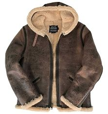 d87ca98e713f Schott NYC Mens 2B6 Brown Vintage Sheepskin B-6 Hoody Bomber Jacket ...