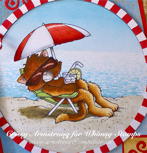 Crissy's Art & Heart  Look at that water and fur!!