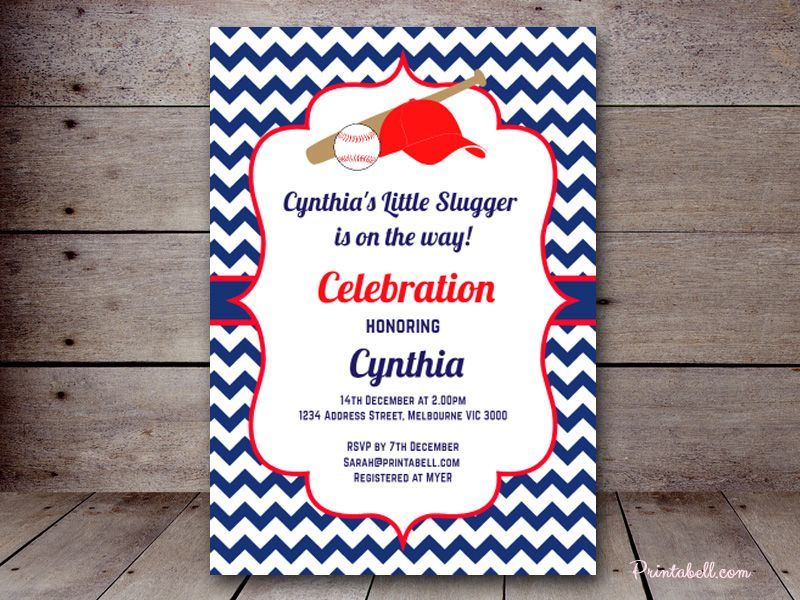 editable-Baseball-baby-shower-invitation | Baby Shower Sport ...