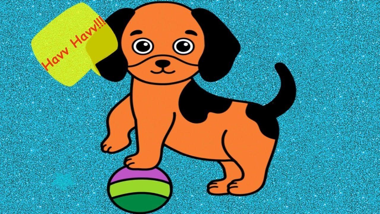 Oyun Oynayarak Renkleri öğreniyoruz Sevimli Köpek Boyama Eğitici