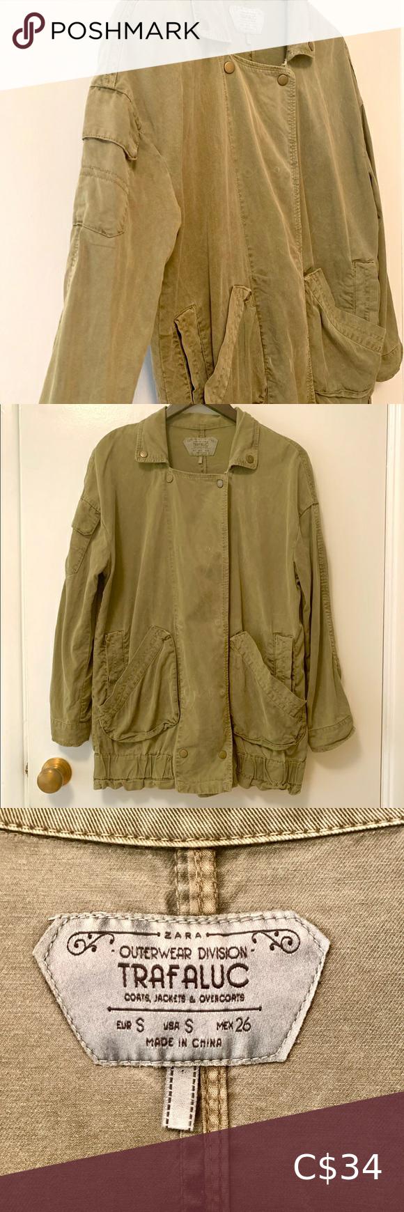 Zara military green light jacket