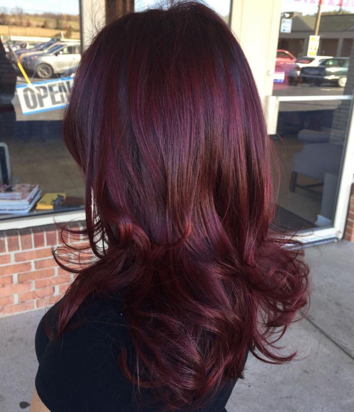 Winter Hair Color Ideas For Brunettes: 45 Shades Of Burgundy Hair : Dark Burgundy, Maroon