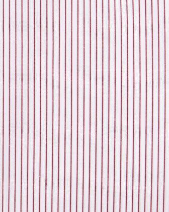 Ermenegildo Zegna Fine Line Striped Dress Shirt, Red - Neiman Marcus