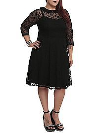 HOTTOPIC.COM - Tripp Skull Lace Dress Plus Size