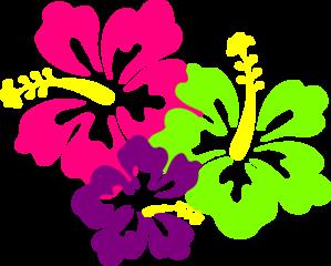 neon hibiscus clip art emma 2nd birthday pinterest hibiscus rh pinterest com Tropical Hibiscus Tropical Leaves Clip Art