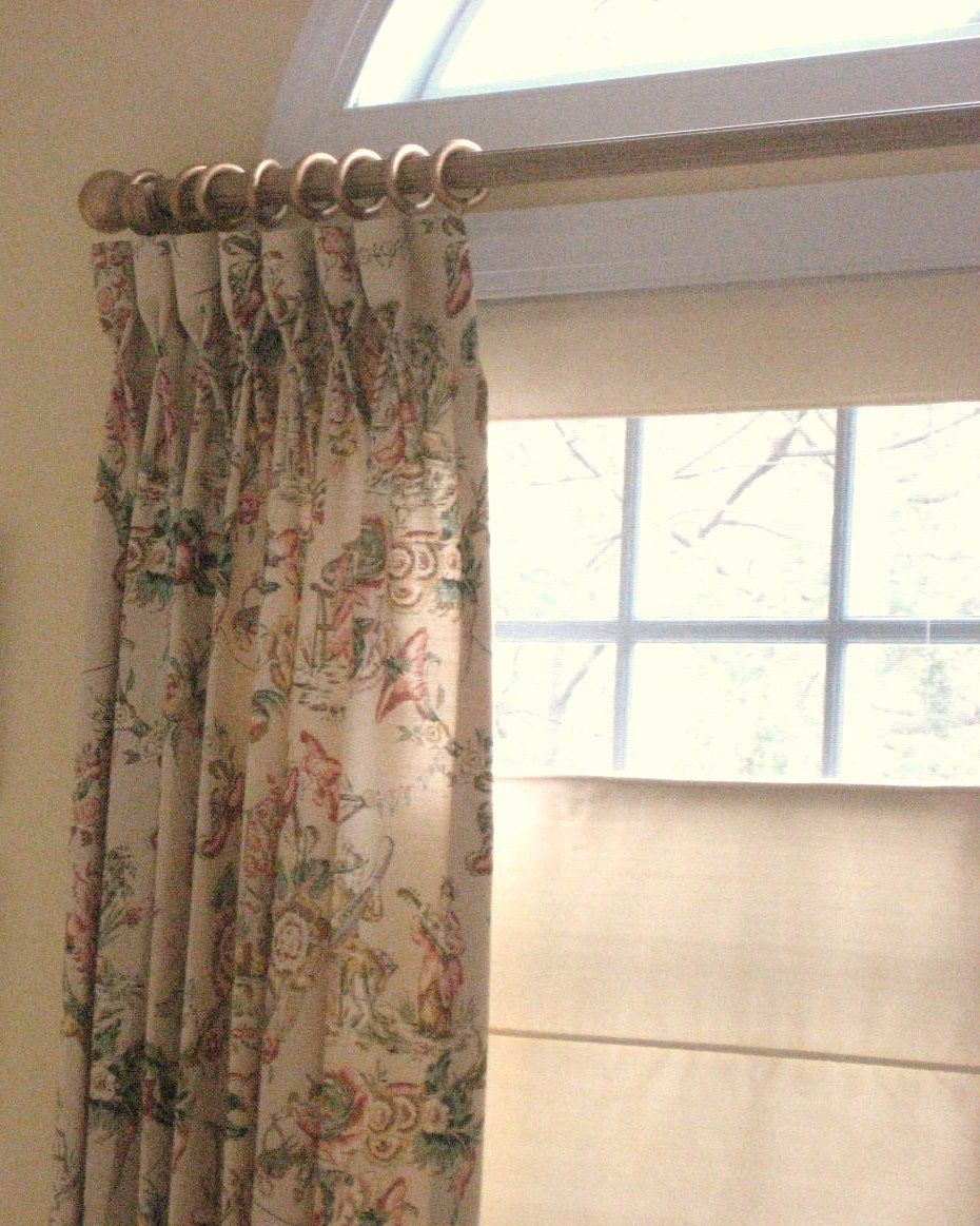 We created and made these beautiful goblet pleated drapery panels