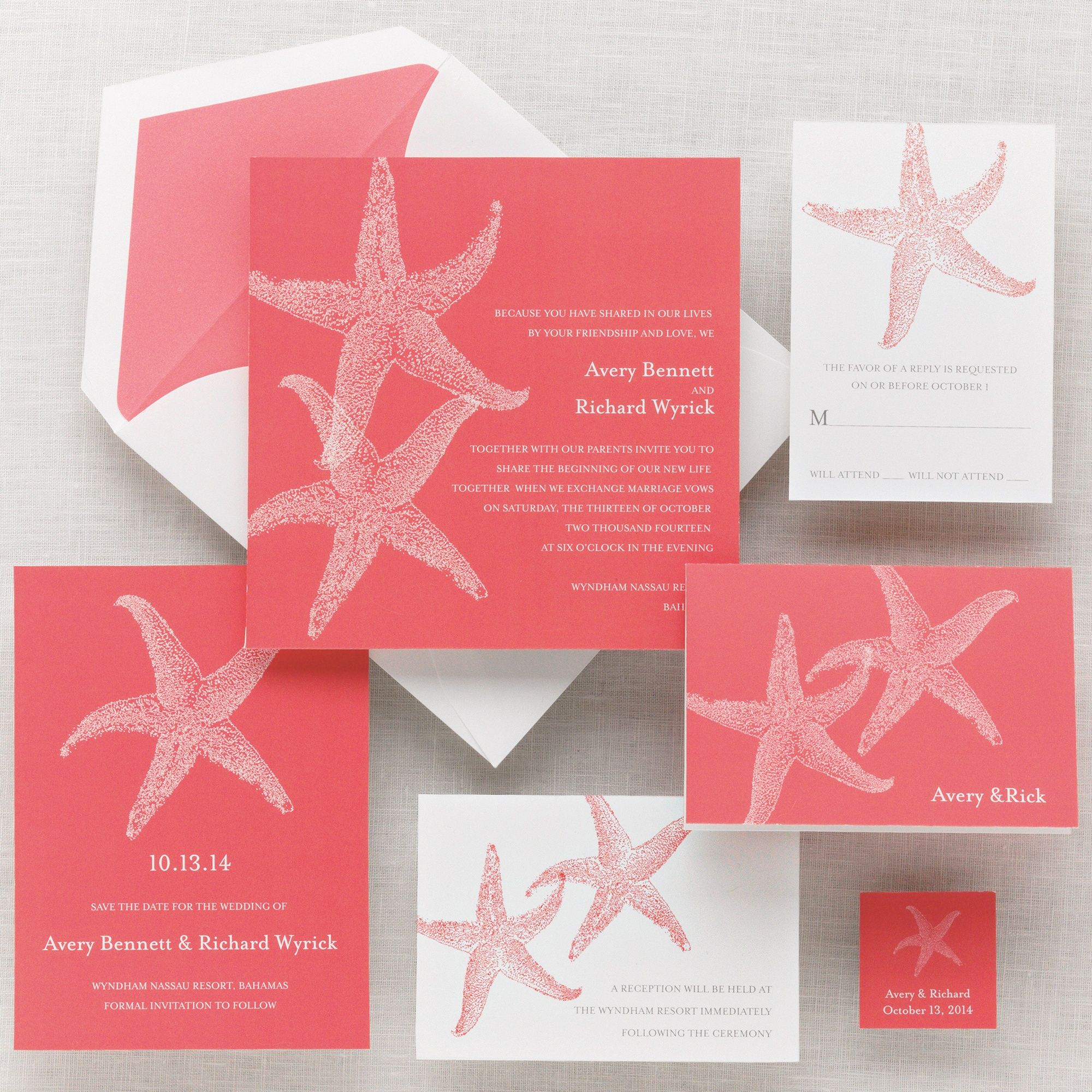 Imperial Starfish Wedding Invitation | #exclusivelyweddings Great ...