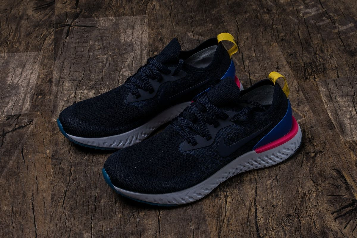 Nike Epic React Flyknit AQ0067004 Carbon Blue Mens Womens
