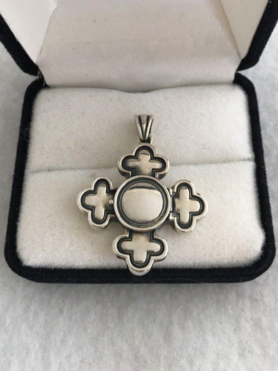 James Avery Maltese Cross Pendant With Retired Signed Ja Ster