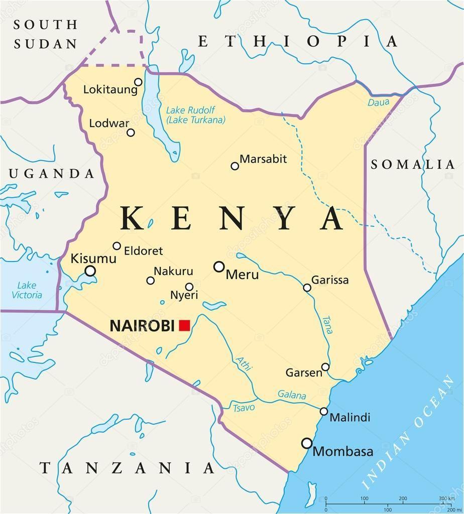Kenya Maps Quenia Mapa