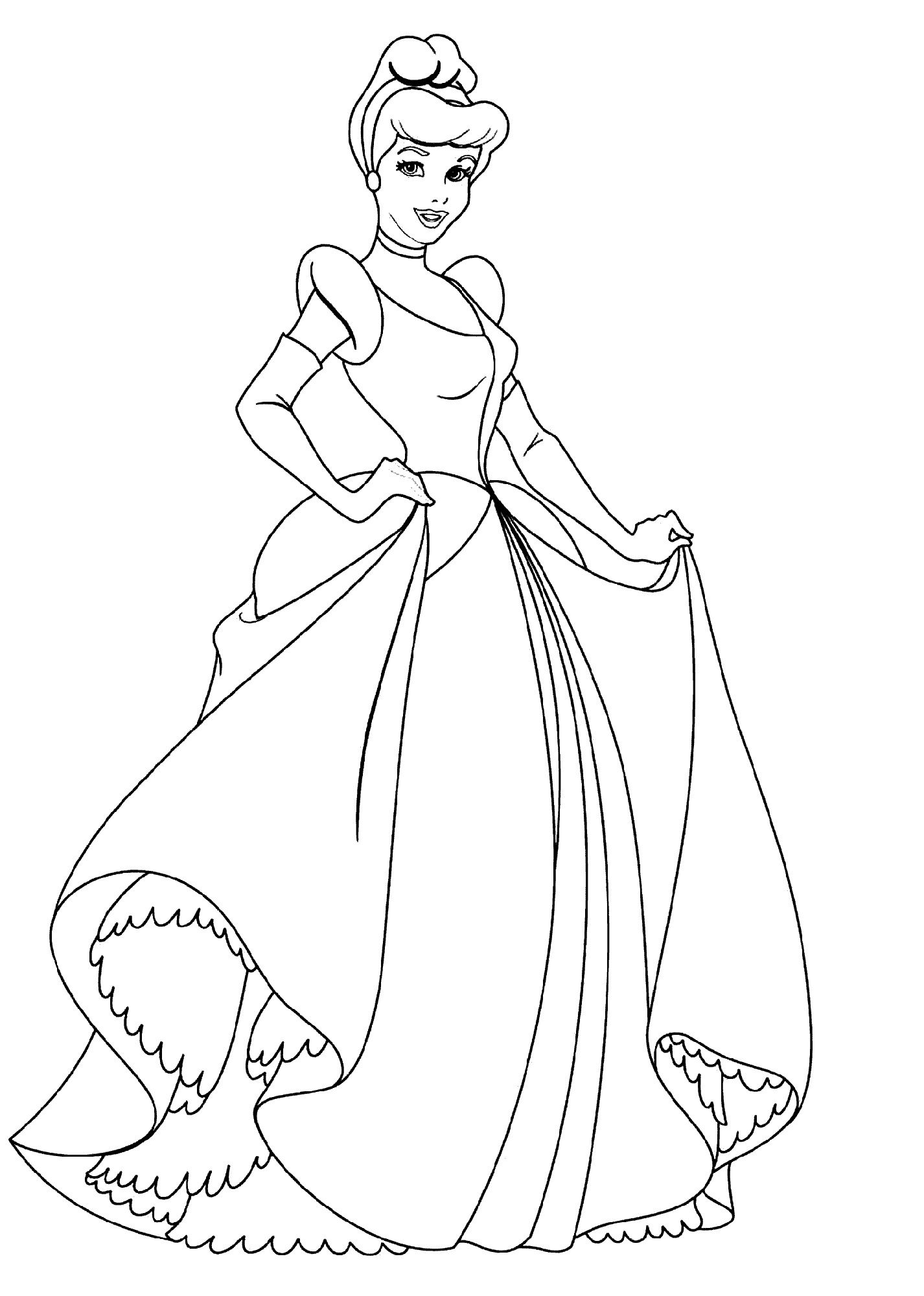 Princess Coloring Pages Cinderella
