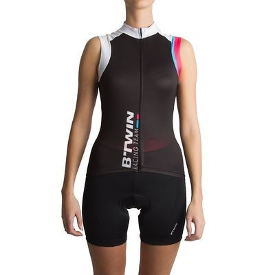 e6ce5bc68 Cycling clothing Cycling - 700 Women s Sleeveless Cycling Jersey -  Black White Pink B TWIN - Helmet
