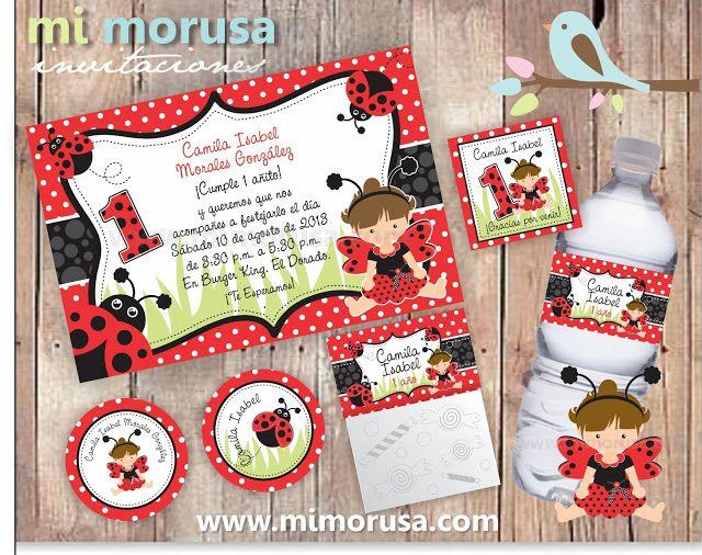 Baby Lady Bug Invitacion Beb 233 Mariquita Catarina