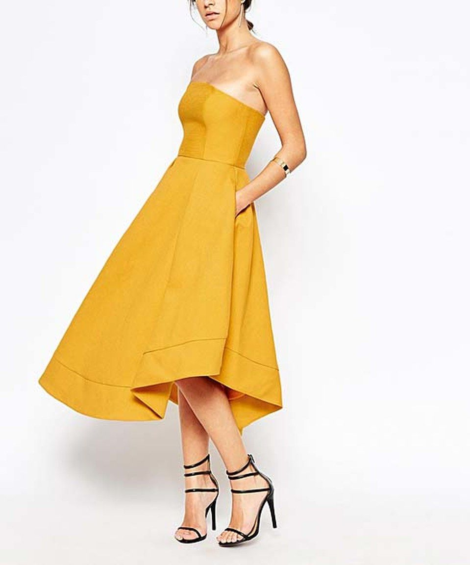e37cd1fdf7d1 Another great find on #zulily! HaoDuoYi Yellow Fit & Flare Dress by  HaoDuoYi #zulilyfinds