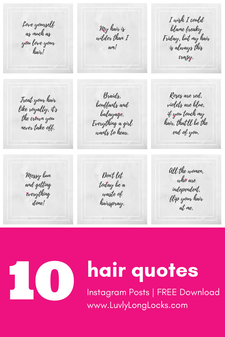 Free Downloadable Witty Hair Quotes