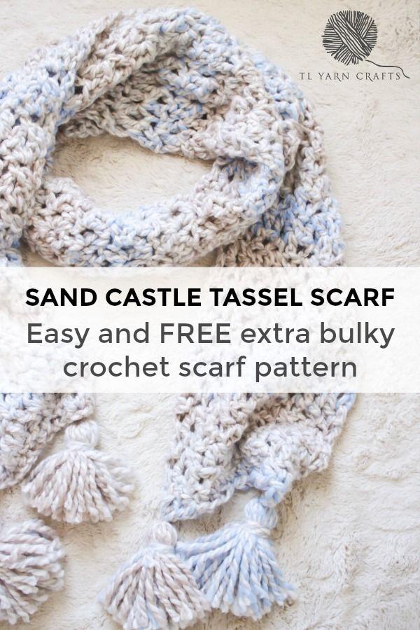 The Sand Castle Tassel Scarf A Free Crochet Tassel Scarf