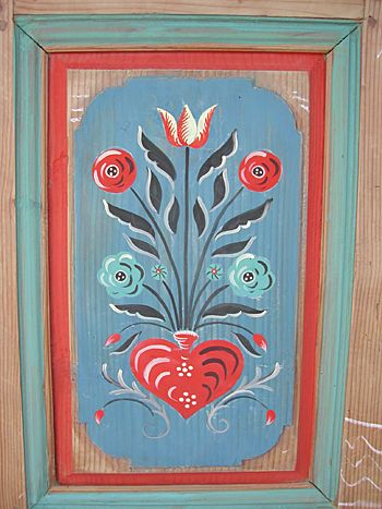 Polychromie Alsacienne Dans Le Mobilier Peinture Decorative Dessin De Fleur Peinture