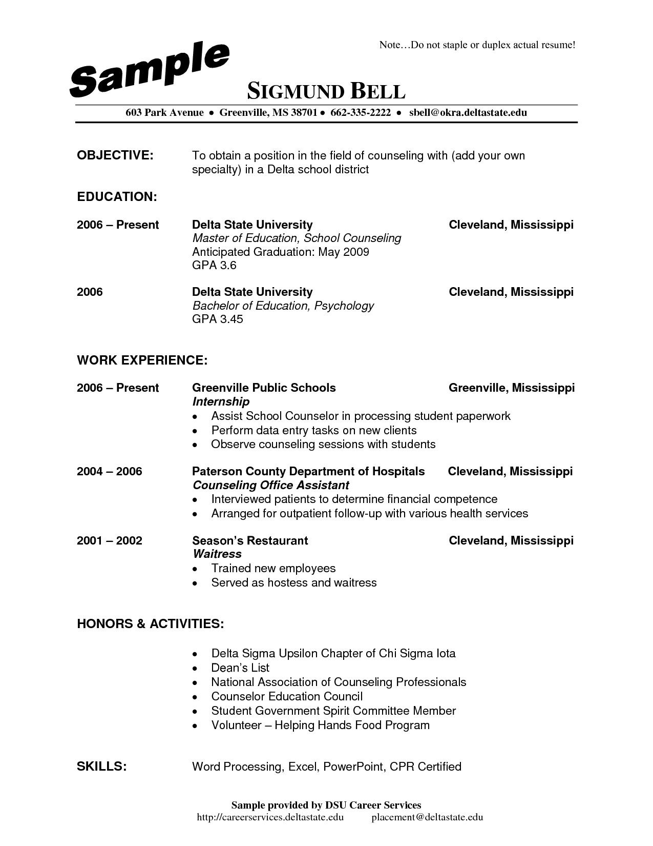 School Counselor Resume in 2020 Resume examples, Resume