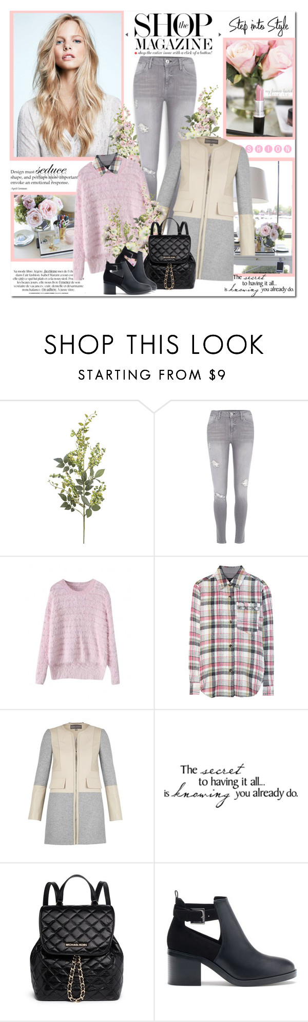 """Step into style!!"" by lilly-2711 ❤ liked on Polyvore featuring Pier 1 Imports, River Island, Isabel Marant, Laura Ashley, WALL, MICHAEL Michael Kors and Bershka"