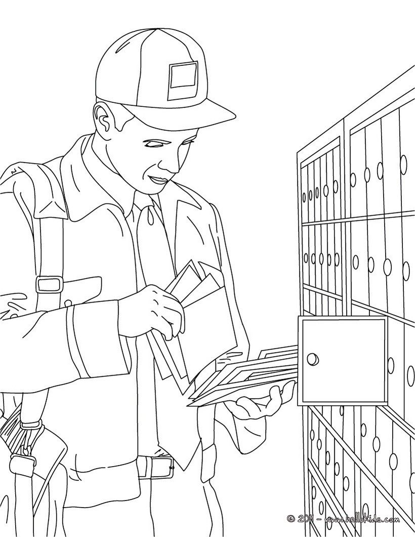 Postman Coloring Page Amazing Way For Kids To Discover Job More
