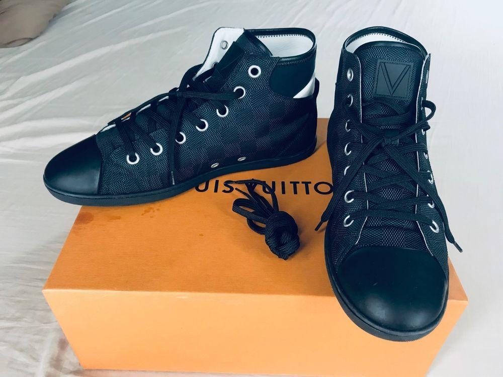 63ade218 Authentic Louis Vuitton Men's Shoes Baseball Sneaker Boot size 7.5 ...