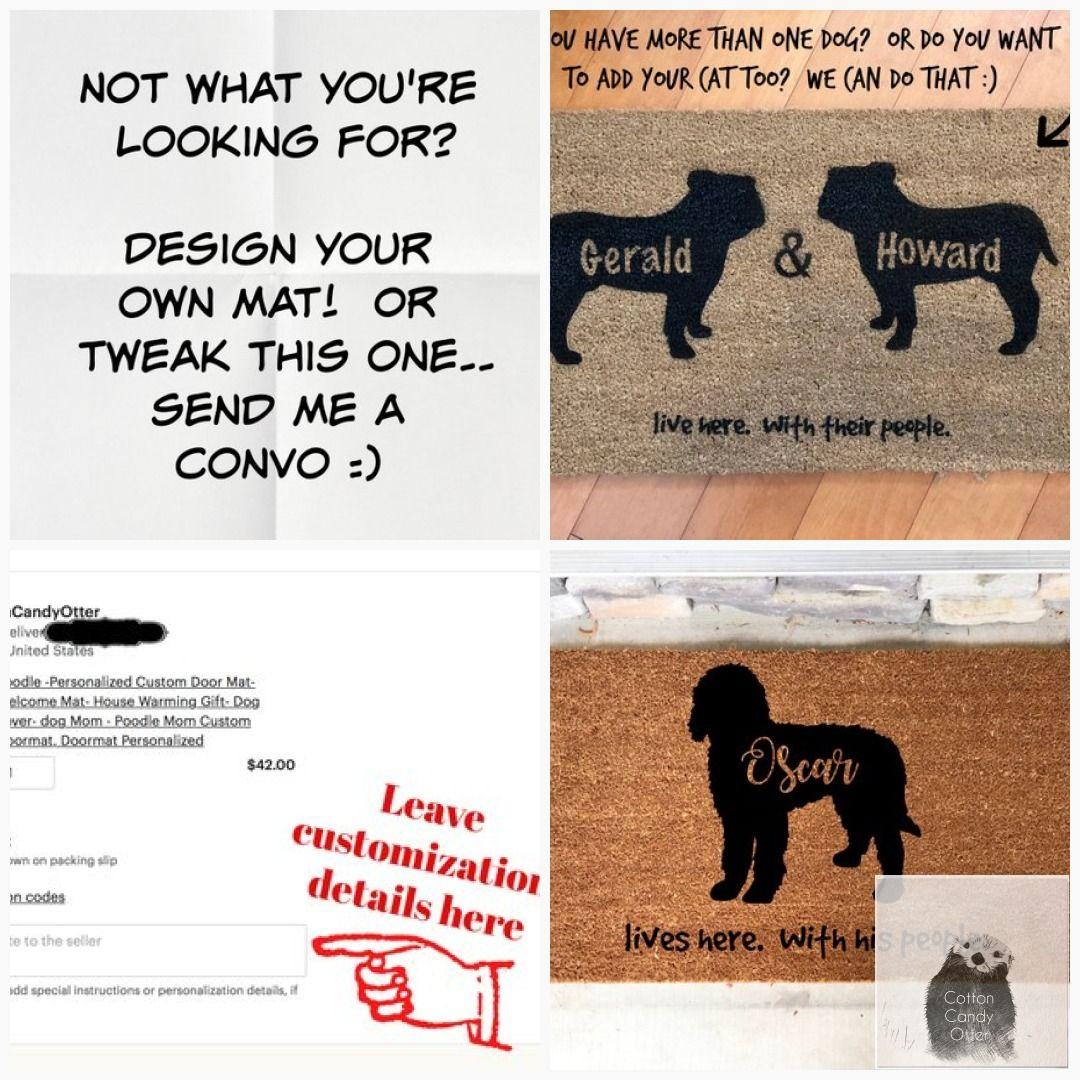 Personalized Custom Door Mat Bernedoodle Gift Bernedoodle Dog