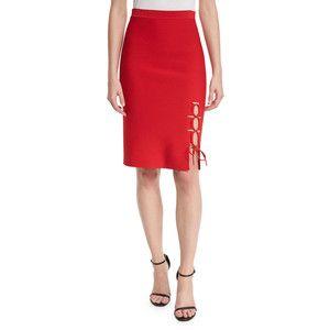 Alexander Wang Laced-Slit Pencil Skirt