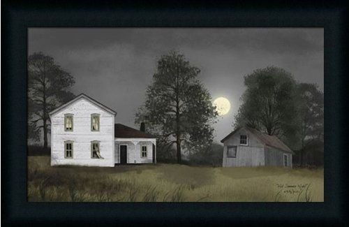 Hot Summer Night by Billy Jacobs Americana Farm Landscape 23x15 in ...