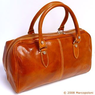 5d5e86df6605 Italian leather bag - MONTE ROSSO, Italian Leather Boston Bag ...