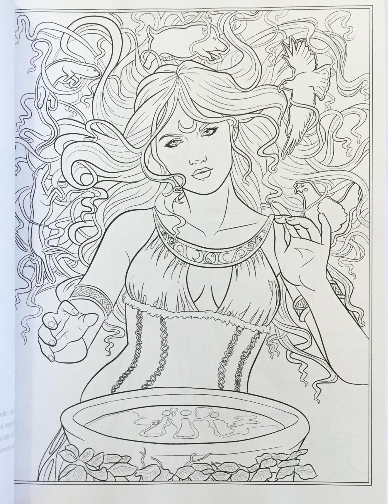 Amazon.com: Goddess and Mythology Coloring Book (Fantasy Coloring by ...