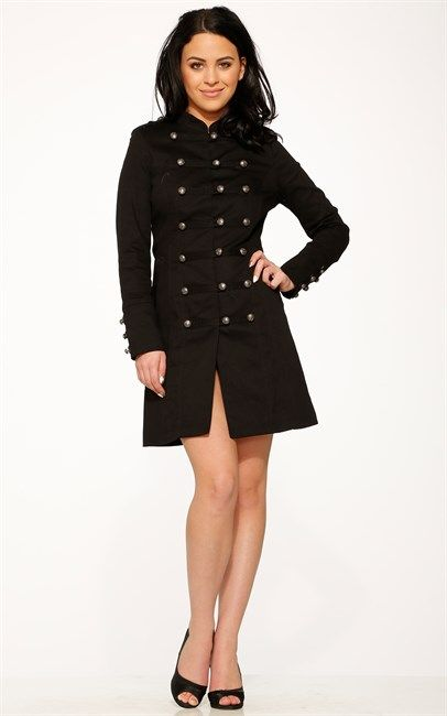 Hearts & Roses London Black Bellatrix Coat