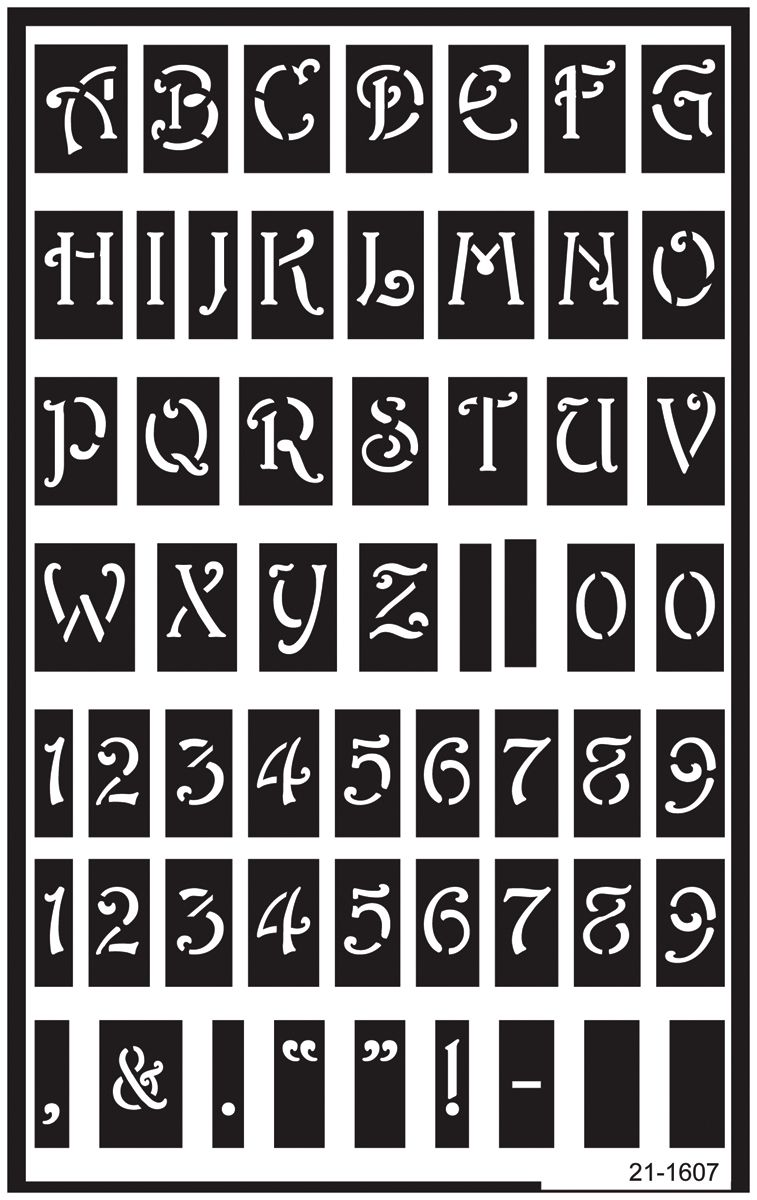 stencils free entire alphabet | ... Over Reusable Glass Etching ...