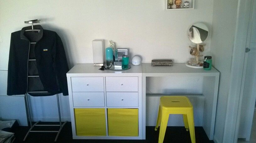Ikea Kallax With Draws With Kallax Hack To Be Dressing Or Vanity