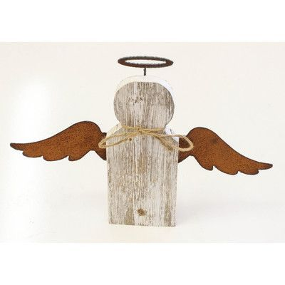 Recherche Reclaimed Rustic Angel Wall Decor