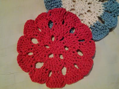 Treasures Made From Yarn Flower Doily Crochet Squares Hexagons
