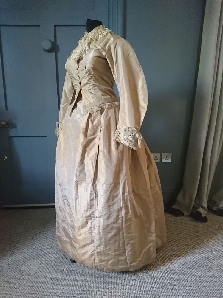 Late 1860s day dress with alterations