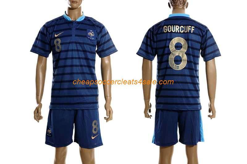 cheap nike France National team 2012-2013 yoann gourcuff number 8 soccer  jerseys home blue