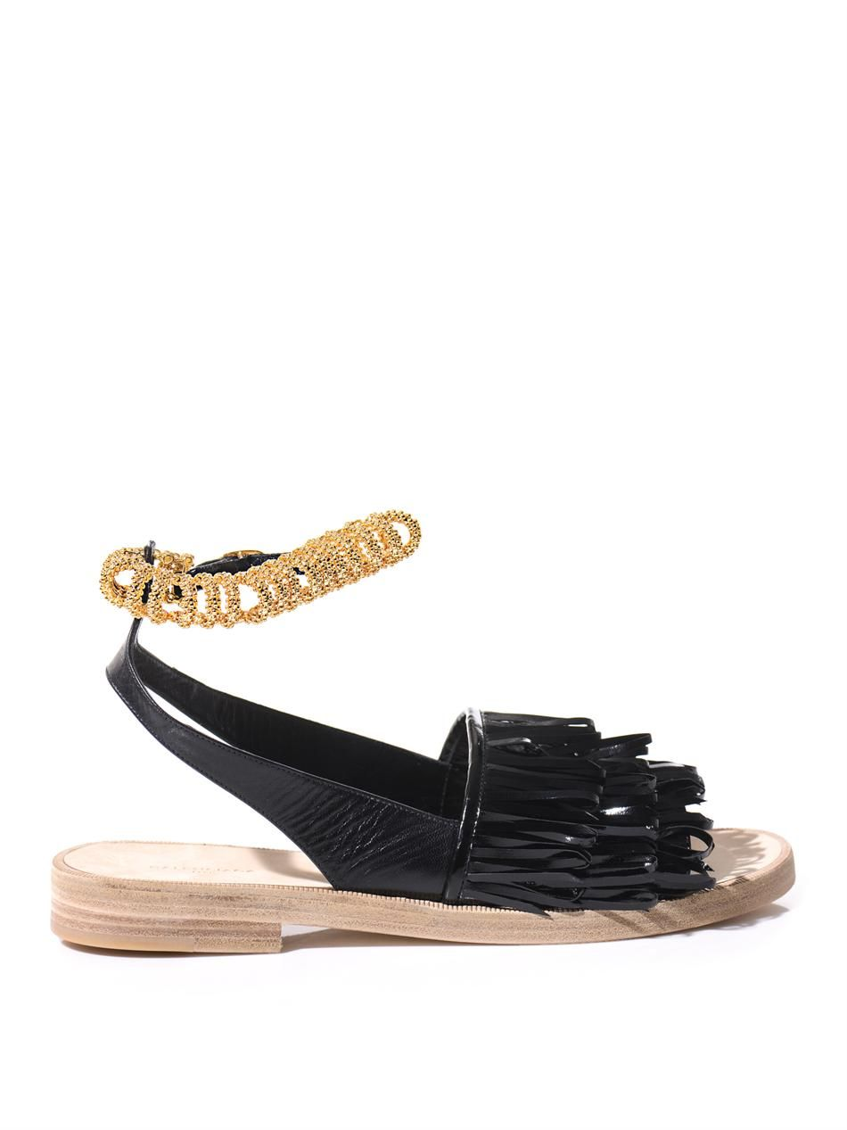 Tassel patent-leather sandals by: BALENCIAGA @Eric Lee Martin Fashion (Global)