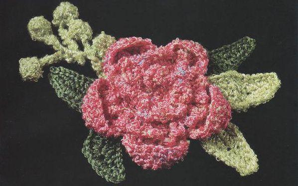 Patrón #913: Flor a Ganchillo | CTejidas [Crochet y Dos Agujas ...