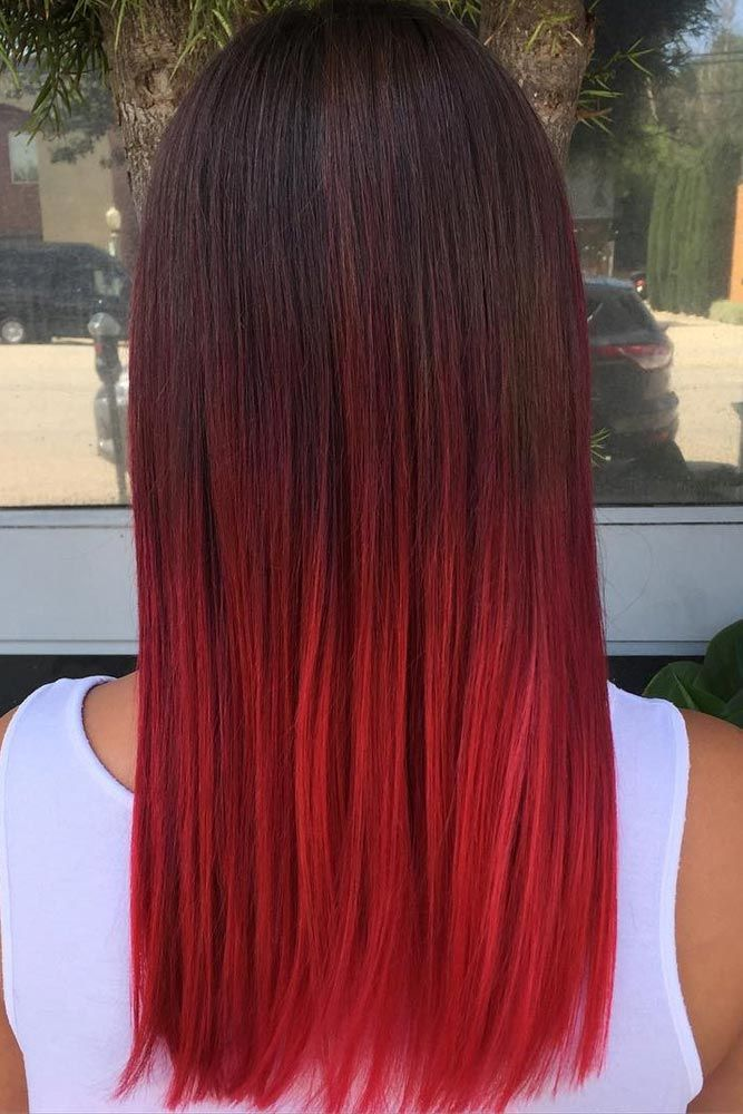 63 Best Red Ombre Hair Color Ideas For Long Hair Hair Color Red Ombre Brunette Hair Color Ombre Hair