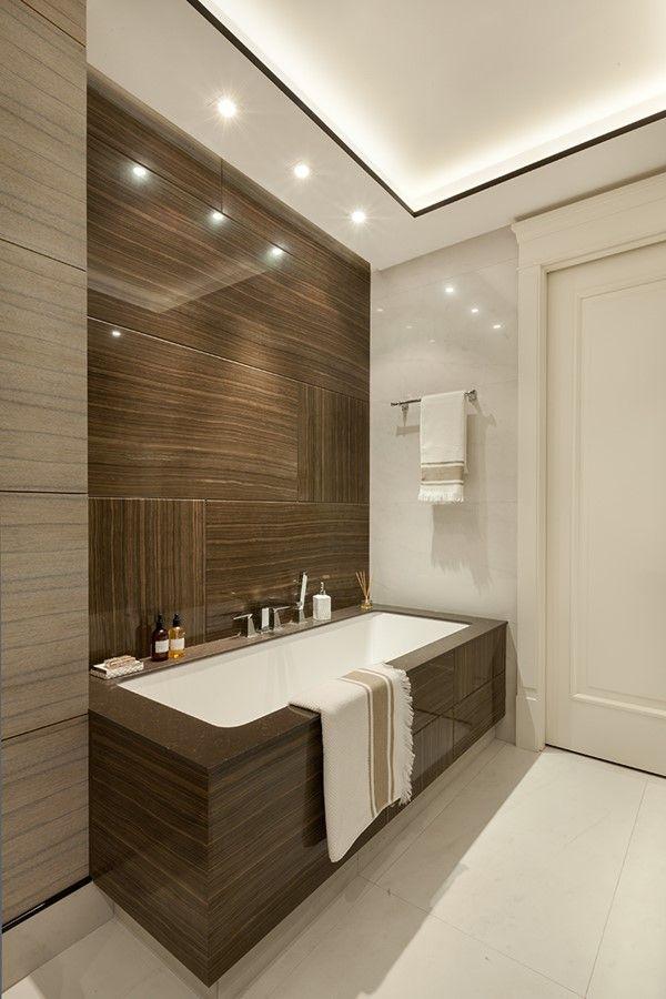 Nowoczesna łazienka W Bieli I Brązie Inspiracja