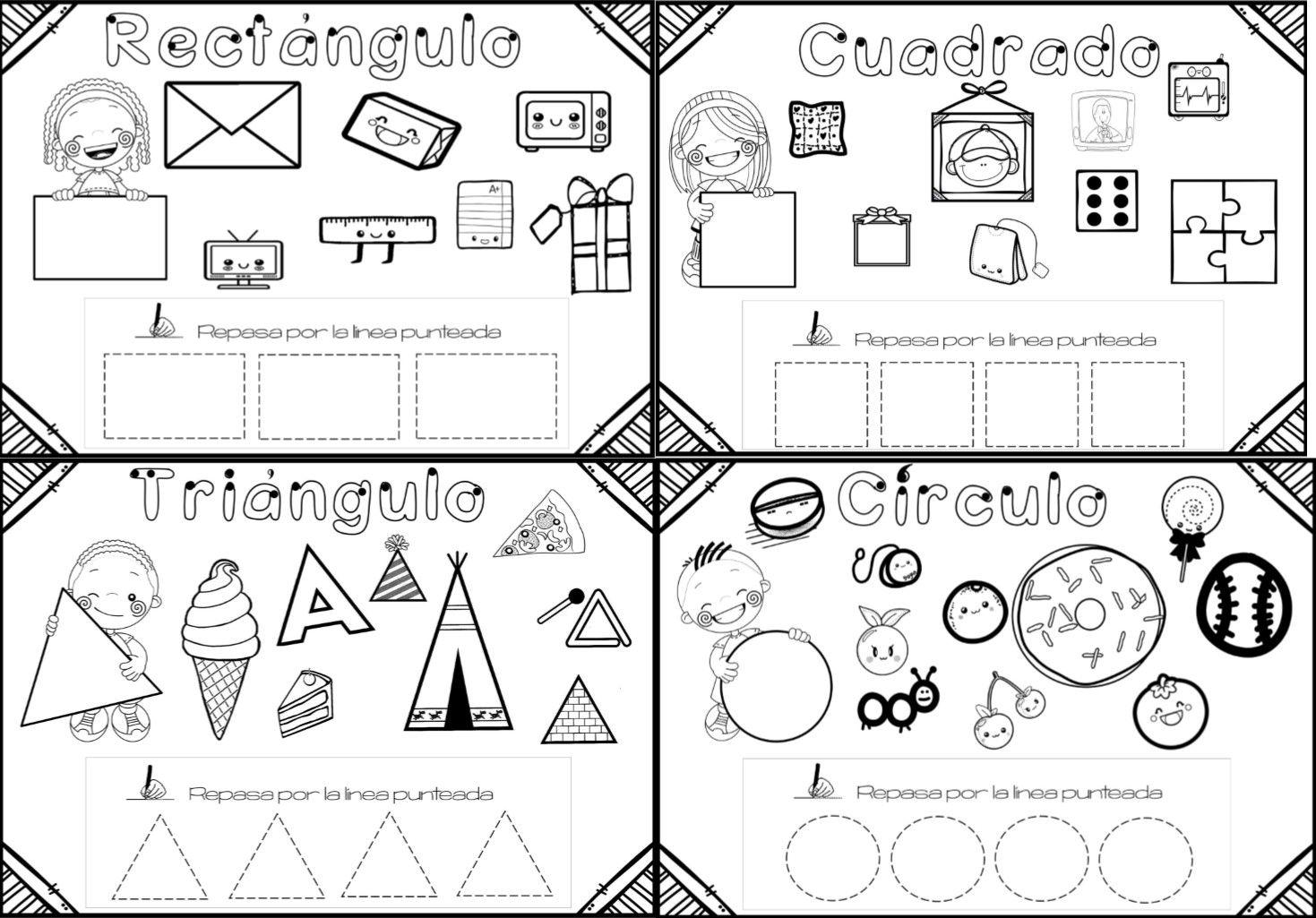 Maravillosas Fichas De Trabajo De Figuras Geometricas